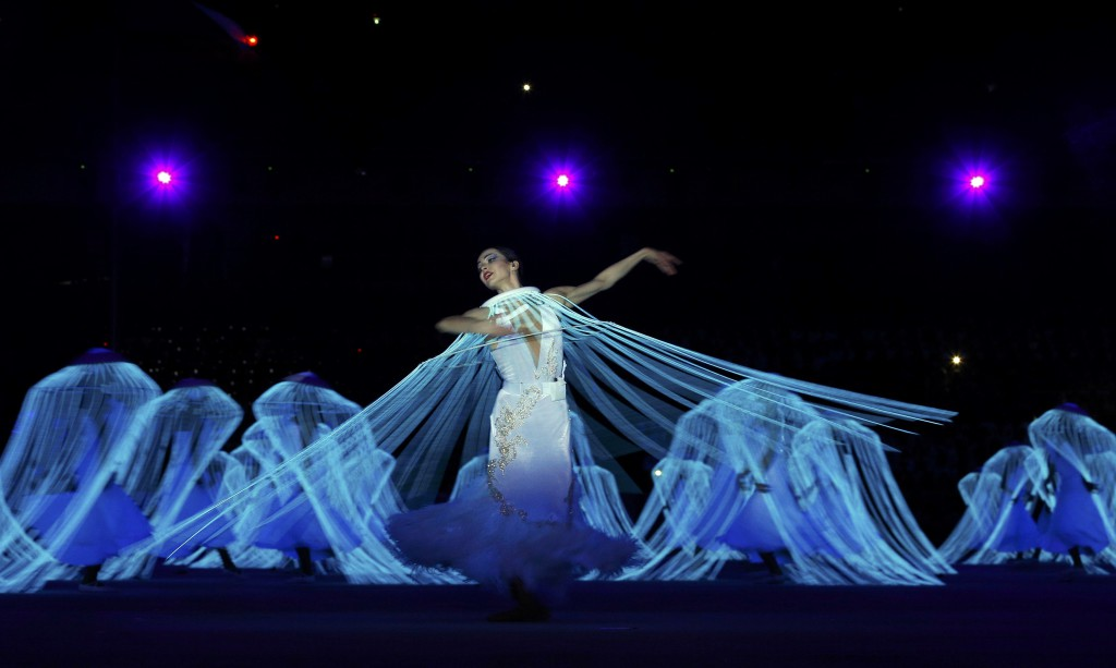 Dancer Vishneva performs during the opening ceremony of the 2014 Sochi Winter Olympic Games